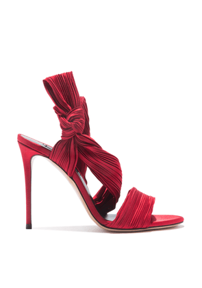 Casadei Sandals Women - Plissé Red Scarlet Satin plissé 40