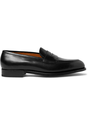 Edward Green - Piccadilly Leather Penny Loafers - Black