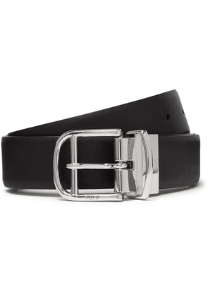 Polo Ralph Lauren - 3cm Black And Brown Reversible Leather Belt - Black