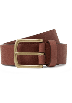 Anderson's - 3cm Chocolate Full-grain Leather Belt - Chocolate