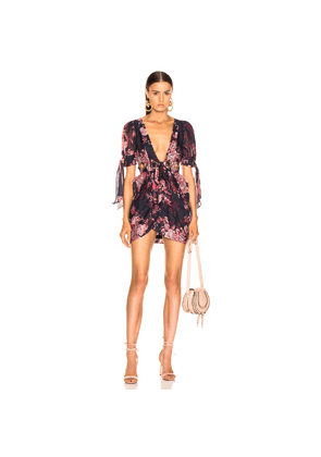 Alice McCall Only Everything Mini Dress in Blue,Floral,Pink