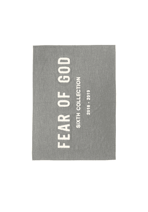 Fear of God Chenille Embroidered Throw in Grey