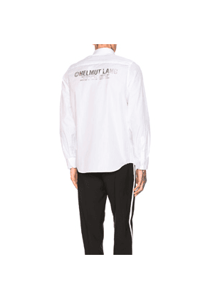 Helmut Lang Printed Shirt in White