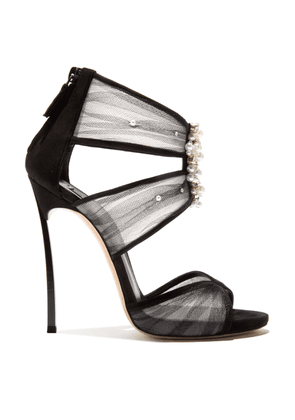 Casadei Sandals Women - Angelica Black Suede 39