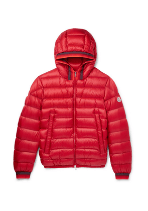 Moncler - Avrieux Stripe-trimmed Quilted Shell Hooded Down Jacket - Red