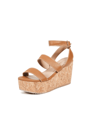 KAANAS Imrali Strappy Wedge Sandals