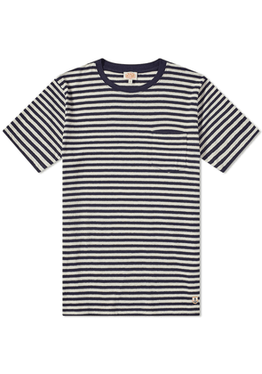 Armor-Lux 76023 Stripe Pocket Tee Dark Navy & Natural