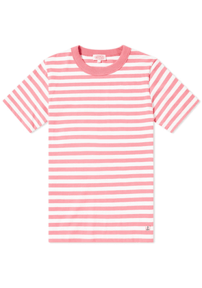 Armor-Lux 77341 Stripe Tee New Pink & White