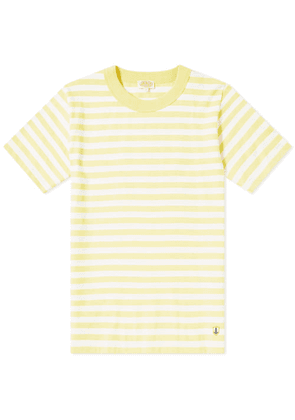Armor-Lux 77341 Stripe Tee Yellow & White