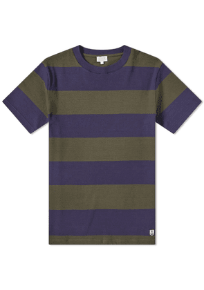 Armor-Lux 77344 Rugby Stripe Tee Navy & Forest Green