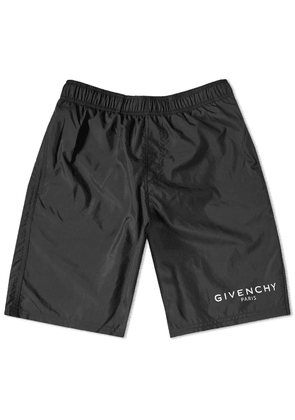 Givenchy Logo Long Swim Short Black