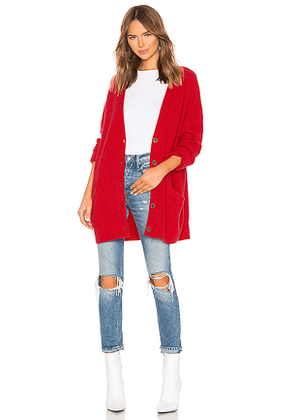 Sanctuary Keep It Cozy Cardigan in Red. Size M,S,XS.
