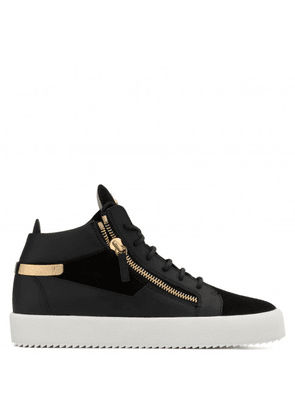 Giuseppe Zanotti - Leather and suede mid-top sneaker KRISS