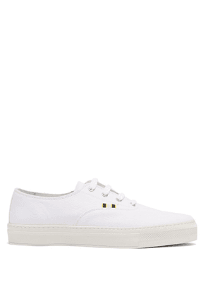 Aprix - Low Top Canvas Sneakers - Mens - White