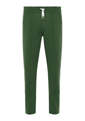 Ami - Striped Jersey Track Pants - Mens - Green
