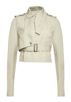 Rick Owens Stretch Cotton Short Trench Coat