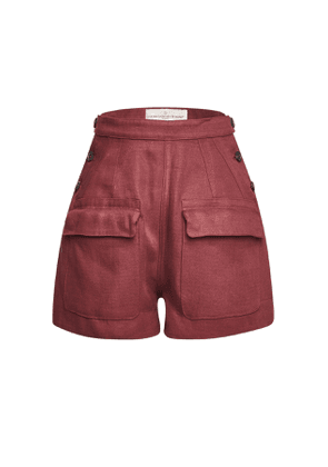 Golden Goose Deluxe Brand Lorena High-Waisted Linen Shorts