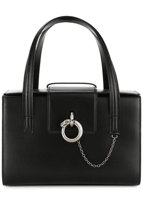 Cartier Vintage Panther logos hand bag - Black