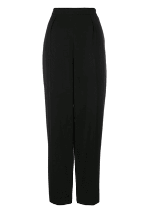 Chanel Vintage high-waisted trousers - Black