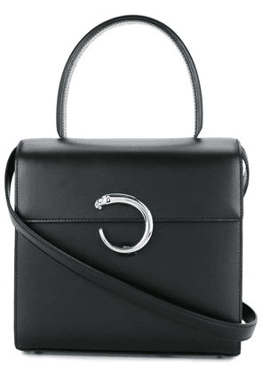 Cartier Vintage Panther Logos 2way handbag - Black