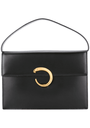 Cartier Vintage panther logo tote bag - Black
