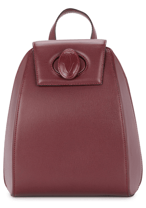 Cartier Vintage logo lock backpack - Red