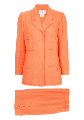 Chanel Vintage fitted skirt suit set - Yellow