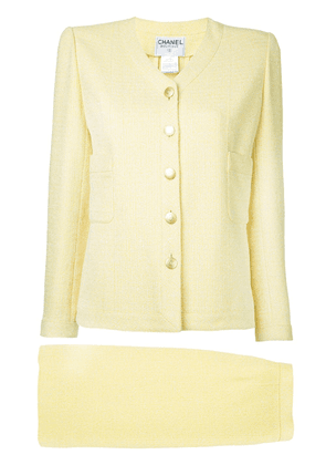 Chanel Vintage two-piece tweed skirt suit - Yellow