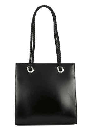 Cartier Vintage Panther logo shoulder bag - Black