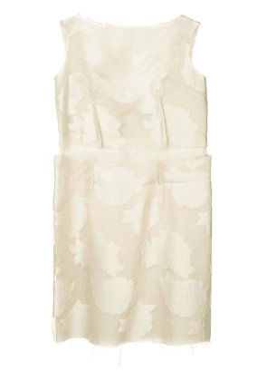 Comme Des Garçons Vintage frayed embroidered sleeveless dress -