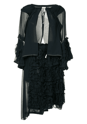 Comme Des Garçons Vintage layered frilled jacket and dress - Black
