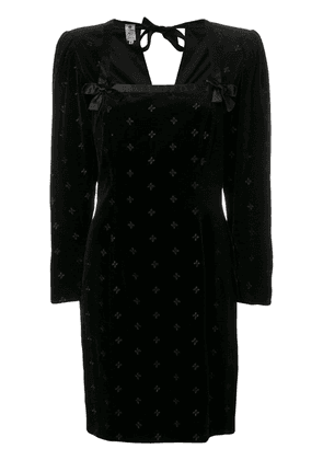 Emanuel Ungaro Vintage 1980's structured dress - Black