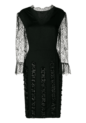 A.N.G.E.L.O. Vintage Cult 1960's lace mini dress - Black