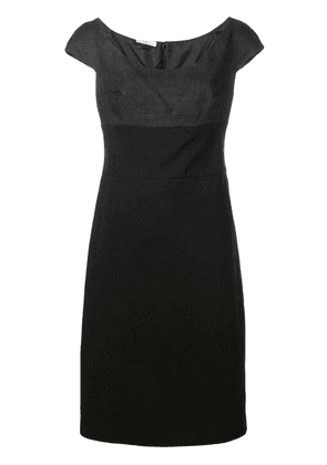 Prada Vintage two tone fitted dress - Black