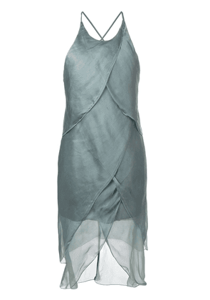 Giorgio Armani Vintage asymmetric draped dress - Green