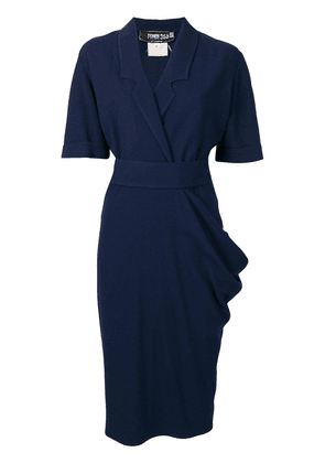 Fendi Vintage draped midi dress - Blue