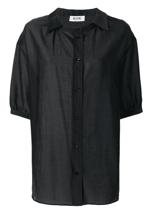 Moschino Vintage off-centre buttoned shirt - Black