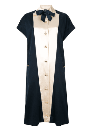 Chanel Vintage pearl button midi dress - Blue
