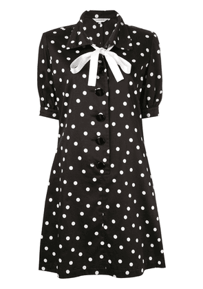 Yves Saint Laurent Vintage polka dot one-piece dress - Black