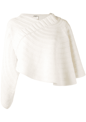 Chanel Vintage cape embroidered blouse - Neutrals