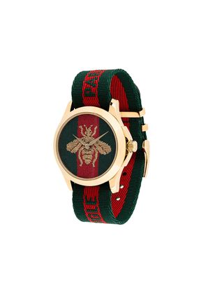 Gucci bumblebee fabric strap watch - Red