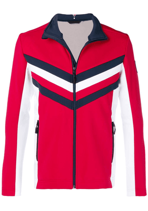 Rossignol Rossignol x Tommy Hilfiger colour block zipped jacket - Red