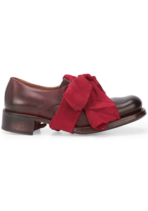 Cherevichkiotvichki bow detail lace-up shoes - Red
