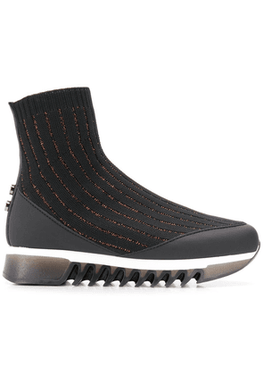 Alexander Smith sock shaped sneakers - Black