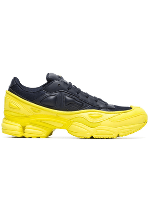 Adidas By Raf Simons yellow and navy Ozweego leather sneakers - Black