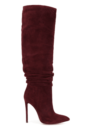 Gianni Renzi ruched detail mid-calf boots - Red