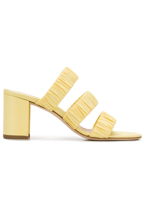 Chloe Gosselin Delphinium ruched mules - Yellow