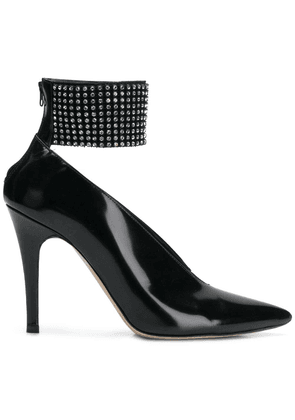 Christopher Kane crystal mesh pumps - Black