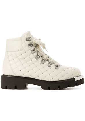 Baldinini quilted studded ankle boots - Neutrals