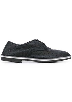 Baldinini perforated decoration derby shoes - Black